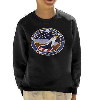NASA STS 51 A Discovery Mission Badge Kid's Sweatshirt