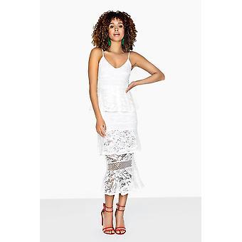 Girls on Film Born Tiered Ruffle Maxi Dress