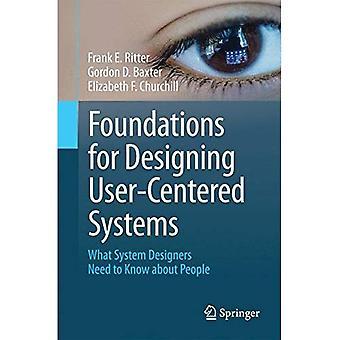 Stiftelser för att designa användarcentrerad system: System Designers behöver veta om personer