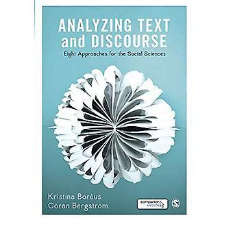 Analyse de texte et discours: huit approches des Sciences sociales