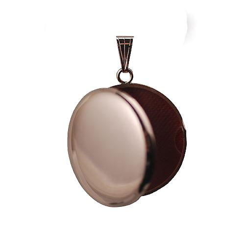 9ct Rose Gold 29mm plain round Locket