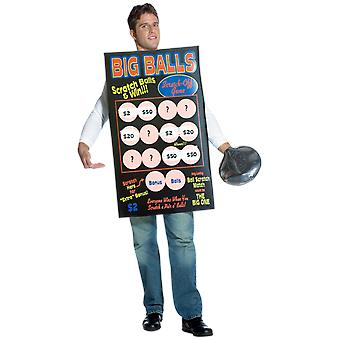 Mens Big Balls Lotto Ticket Stag Night Rude & Naughty Fancy Dress Costume