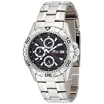 Lotus Mens analog quartz watch with stainless steel band 15301/6