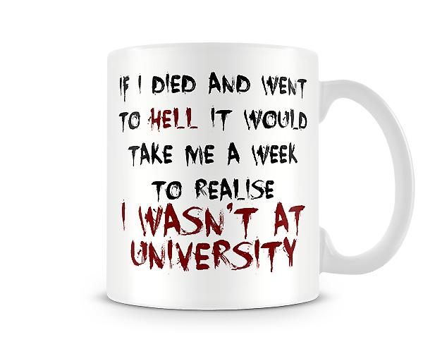 Decorative Writing A Week To Realise I Wasn't At University Printed Mug