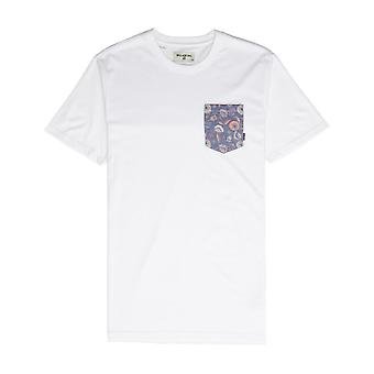Billabong All Day Printed Pocket Short Sleeve T-Shirt in White