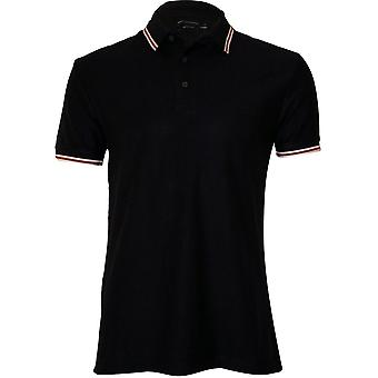 French Connection Textured Cotton Polo Shirt, Navy