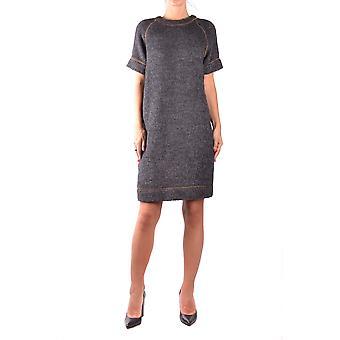 Brunello Cucinelli grå ull klänning