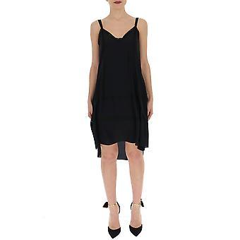 Semi-couture Black Cotton Dress