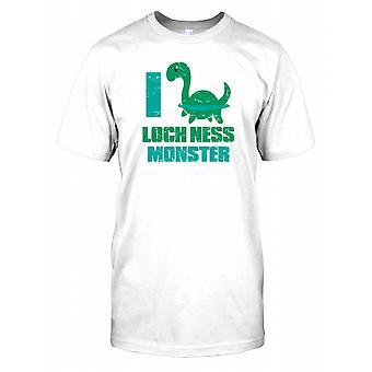 I Love loch Ness Monster Kids T Shirt