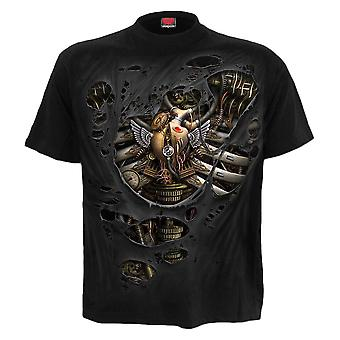 Spiral Steam Punk Ripped T-Shirt L