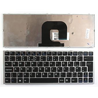 Sony Vaio VPC-YB15KXS Silver Frame Black UK Layout Replacement Laptop Keyboard