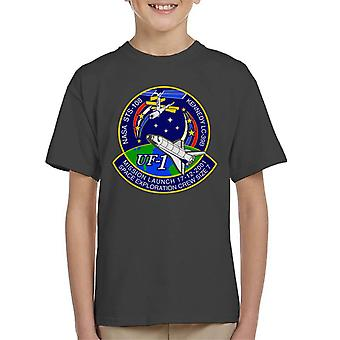NASA STS 108 Endeavour Crew Badge Kid's T-Shirt