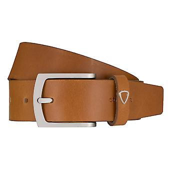 Strellson jeans belt men belt cowhide leather belt Cognac 7923