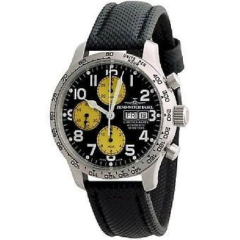 Zeno-Watch Herrenuhr NC Pilot Tachymeter Chronograph-Date 9557TVDD-2T-b19