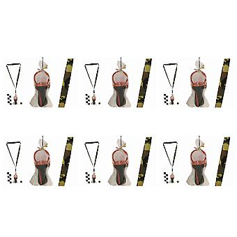 Pack Of 6 Rock Dummies With Camouflage Lanyards