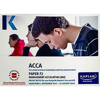 F2 Management Accounting - Pocket Notes by Kaplan Publishing - 978178