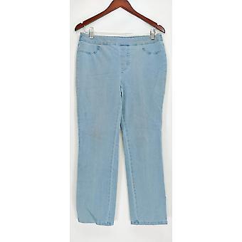 Isaac Mizrahi en direct! Femmes-apos;s Petite Jeans 24/7 Denim Straight Blue A297722