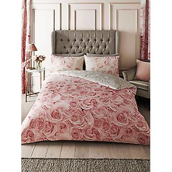 Bellerose Floral Double Duvet Cover Set - Pink