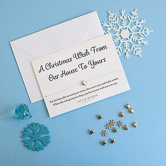 A Christmas Wish From Our House To Yours Charm Bracelet With Envelope Christmas Card