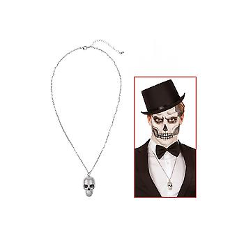 Jewelry and crowns  Silver Skull Necklace