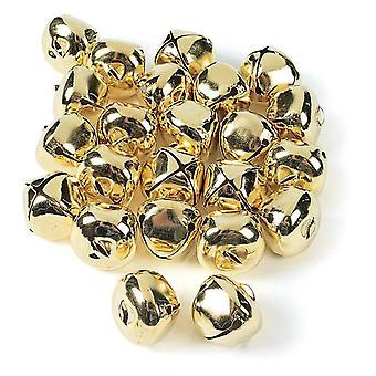 24 Jumbo ouro 35mm Jingle Bells para artesanato | Sinos artesanais