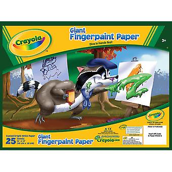 Crayola Riese Fingerpaint Paper Pad 16