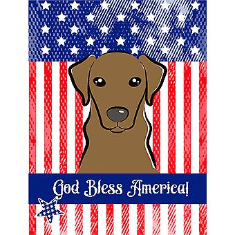 God Bless American Flag with Wirehaired Dachshund Flag Canvas House Size BB2163CHF