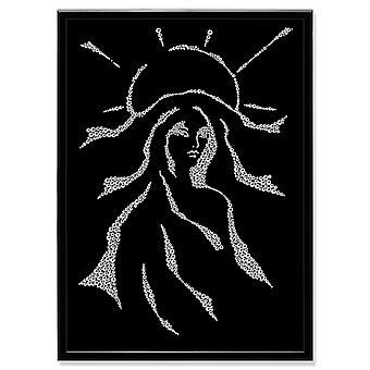 Foto di arte di cristallo donna MBP-4