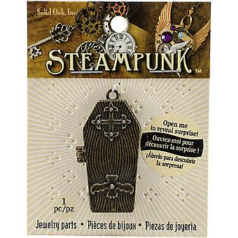 Steampunk Metal Pendant 1/Pkg-Coffin Surprise STEAM202