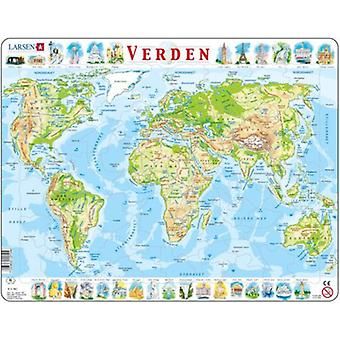 Larsen The World physical (children, toys, games of table, Puzzles)