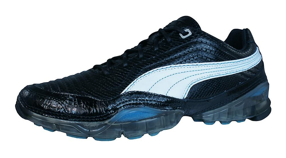 Puma Cell Meio L Womens Leather Running Trainers / Shoes - Black