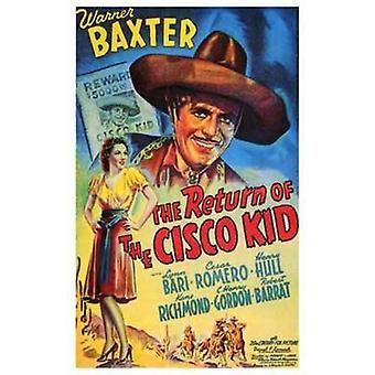 Retur av Cisco Kid filmen plakaten (11 x 17)