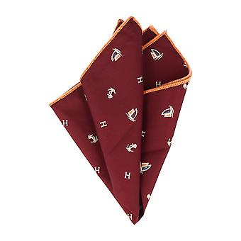 Snobbop handkerchief basic handkerchief Grand towel Bordeaux Maritim with orange edge