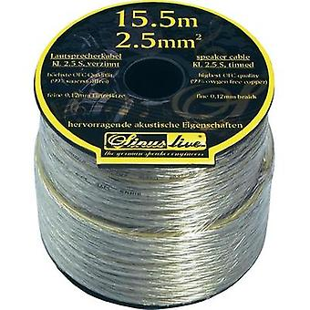 Speaker cable 1 x 2.50 mm² Silver Sinuslive KL-2,5S 15.5 m