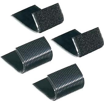 Hook-and-loop tape stick-on Hook and loop pad, Heavy duty (L x W) 100 mm x 50 mm Black Fastech 730-330-2C 1 pair