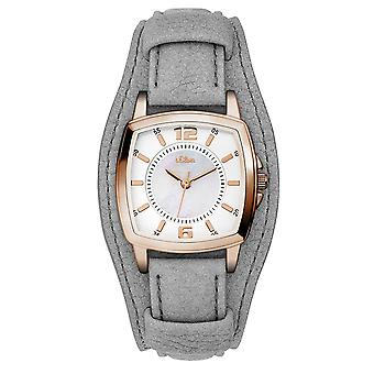 s.Oliver women's watch wristwatch leather SO-3237-LQ