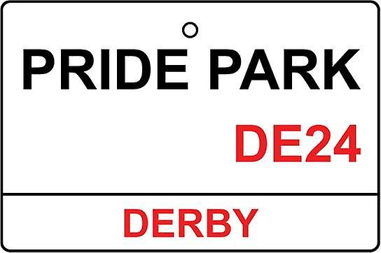 Derby / Pride Park Street Sign Car Air Freshener