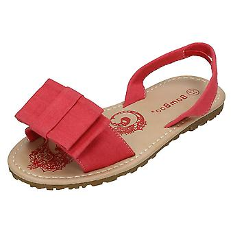 Girls Spot On Flat Mule Slingback Sandal H0125