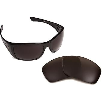 New SEEK Polarized Replacement Lenses for Oakley HIJINX Black Silver Mirror