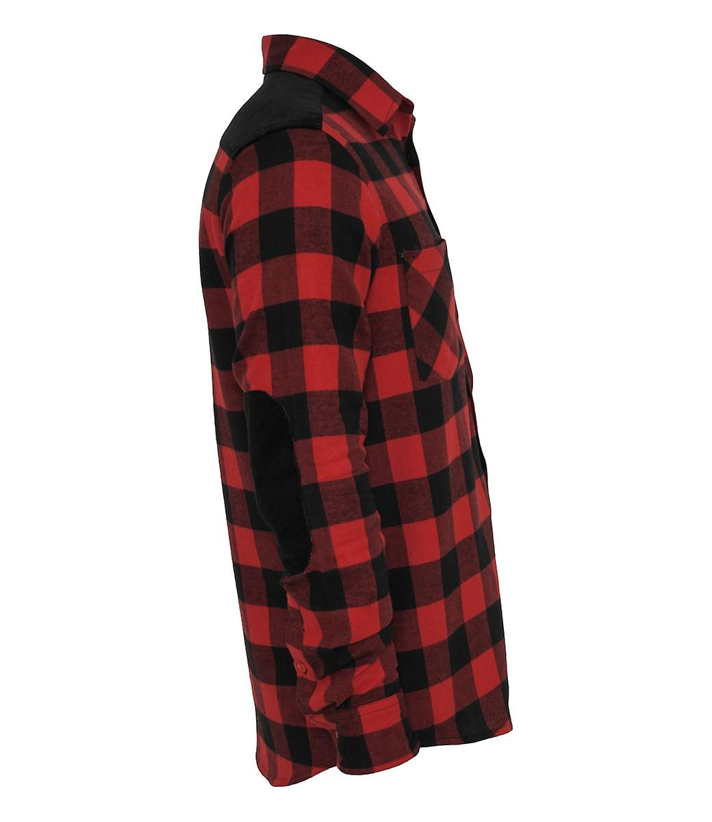 Urban Classics Checked flannel shirt Patched Cord