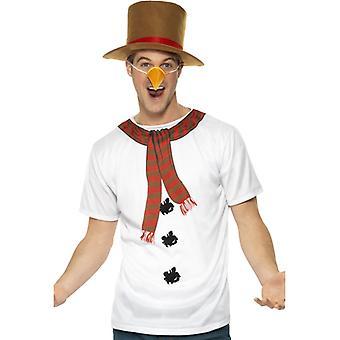 Snowman costume snowman costume set Christmas mens size M