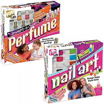 Fab Lab opfinde en duft parfume Kit & Nail Art bundt