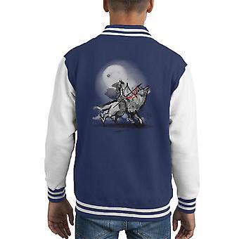 Monokami Prinzessin Mononoke Okami Kid Varsity Jacket