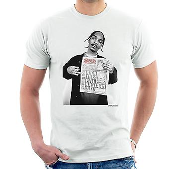 Snoop Dogg Daily Star Newspaper Men's T-Shirt