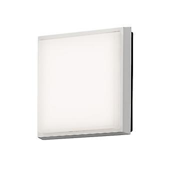 Konstsmide Cesena White Square Ceiling Flush Porch Light