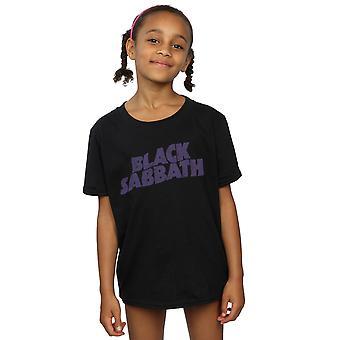 Black Sabbath meninas angustiado logotipo t-shirt