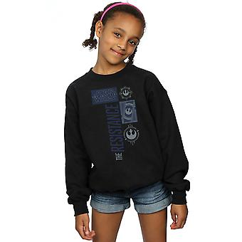 Star Wars Girls The Last Jedi The Resistance Sweatshirt