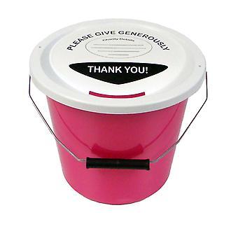 6 Charity-Inkasso Eimer 5 Liter - Pink