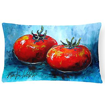 Vegetables - Tomatoes Red Toes   Canvas Fabric Decorative Pillow
