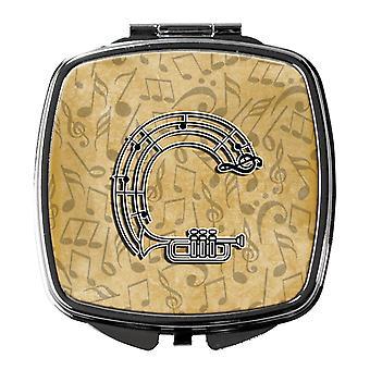 Letter C Musical Instrument Alphabet Compact Mirror
